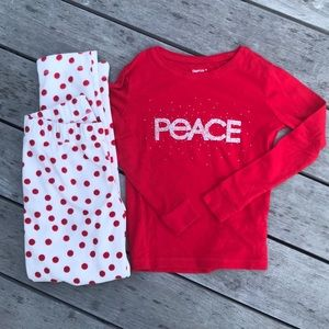 Gap kids PEACE pajamas